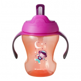 Tommee Tippee - Cana cu Pai Easy Drink 230ml 6+ luni , Fete