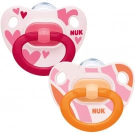 NUK - Suzete Ortodontice Happy Days, Hearts 2 buc, 6-18 luni