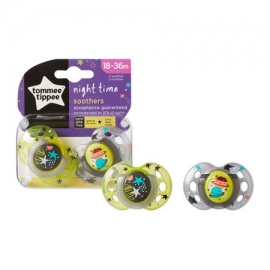 Tommee Tippee - Suzete Night Time My Little Star, 18-36 luni