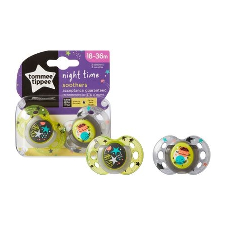 Tommee Tippee - Suzete Night Time My Little Star, 18-36 luni Fete