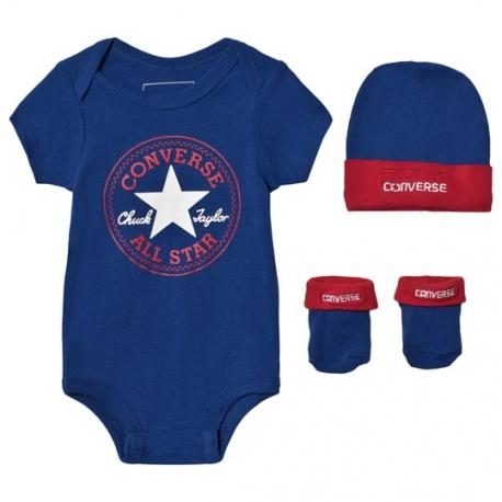 Converse - All Star Set 3 piese bebelusi, 0-6 luni, bleumarin