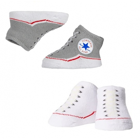 Converse - All Star Infant Booties, 0-6 luni, Gri/Alb