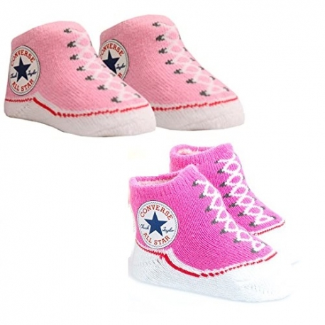 Converse - All Star Infant Booties, 0-6 luni, Roz/Fucsia