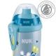 NUK - Cana Junior Cup cu sistem push-pull 300ml, 3 ani+, Abastru