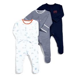 Mamas&Papas - Set Pijamale All-in-one Mr Bear, 3 buc