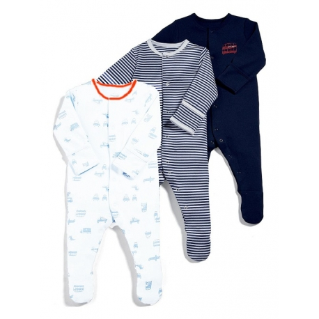 Mamas&Papas - Set Pijamale All-in-one Planes, 3 buc