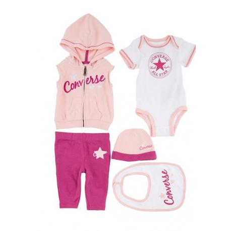 Converse - All Star Infant Set 5 Piese, Bright Rose