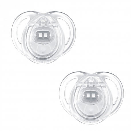 Tommee Tippee - Suzete Anytime, 0-6 luni, Unisex Transparent