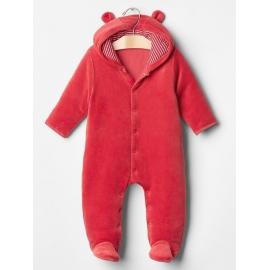 GAP - Salopeta bebelusi Velour All-in-one, Red