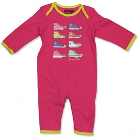 Converse - Salopeta All Star Infant Body All-in-one, Pink Sneakers