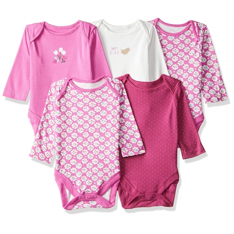 Mothercare - Set Body cu maneca lunga Girls Rose, 5 buc