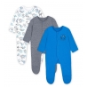 Mothercare - Pijamale body all-in-one Wild Blue, 3 buc