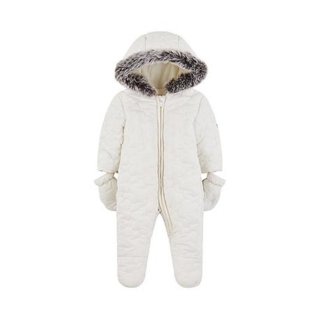 Mothercare - Combinezon Iarna My Little, Alb