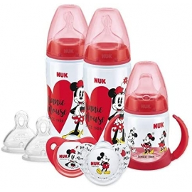 NUK - Set Disney Biberon, Canita si Suzeta Minnie Mouse