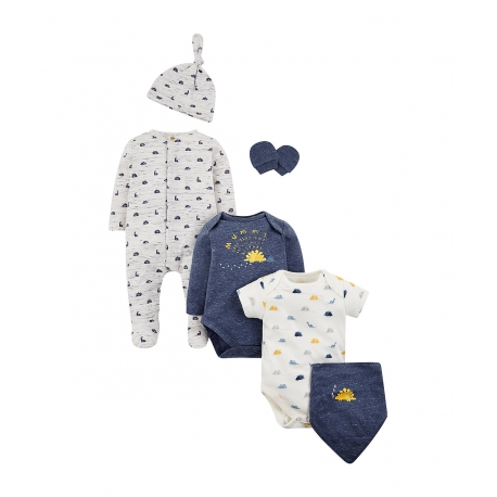 Mothercare - Set cadou 6 piese body, Cosy Navy