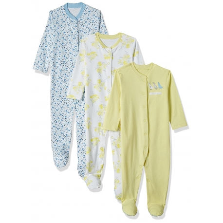 Mothercare - Pijamale body all-in-one Pretty Geese, 3 buc
