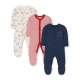 Mothercare - Pijamale body all-in-one Little Cub, 3 buc