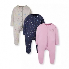 Resigilat Mothercare - Pijamale body all-in-one Unicorns, 3 buc