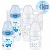 NUK - Set 4 biberoane First Choise+ si suport, Blue