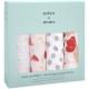 Aden+Anais - Museline bumbac , 4 buc 120x120 cm, Flower Blossom