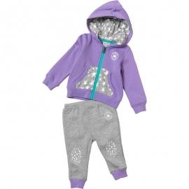 Converse - All Star Infant Set Hanorac si Pantaloni Jogger, Mov