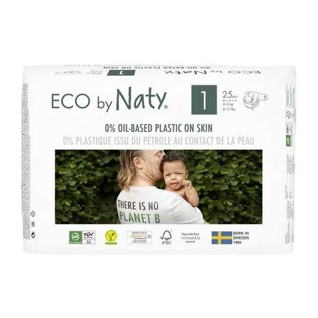 ECO by Naty - Scutece marimea 1, 25buc, 2-5kg