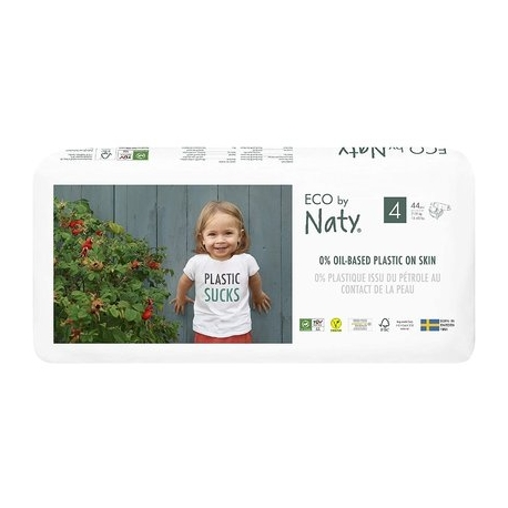 ECO by Naty - Scutece marimea 4, 44buc, 7-18kg