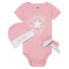 Converse - Set 3 piese All Star Infant Gift, 6-12 luni, Roz